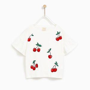 Zara cherry T shirt